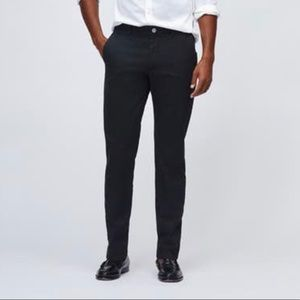 Slim Straight Washed Chino Pants in Black 32 X 30